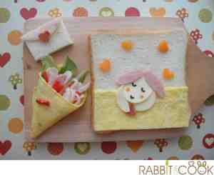 Bento # 150 - Rabbit in love (Valentine Bento)