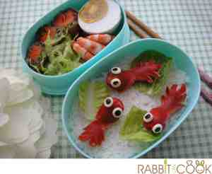 Bento # 155 - Gold fishes Bento
