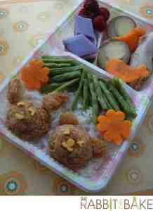 Bento # 172 - Bunny and Teddy Bento