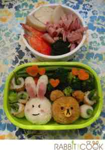Bento # 173 - Cony and Brown bento